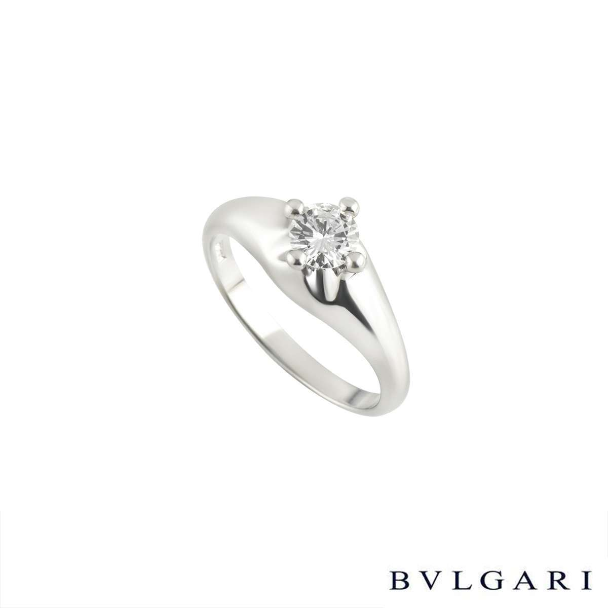 Bvlgari Corona Platinum Diamond Ring 0.30ct F/VS1